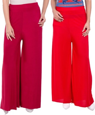 Komal Trading Co Regular Fit Women's Maroon, Red Trousers