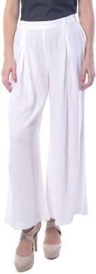 Meira Regular Fit Women's White Trousers