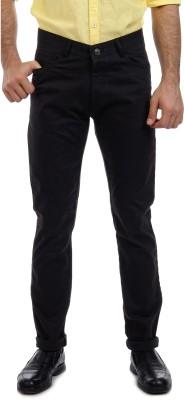 Sting Slim Fit Men's Linen Black Trousers