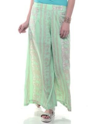 Lyla Regular Fit Women's Green Trousers at flipkart