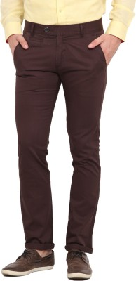 Ennoble Slim Fit Men's Brown Trousers
