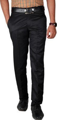 Caricature Clothing Regular Fit Men's Black Trousers