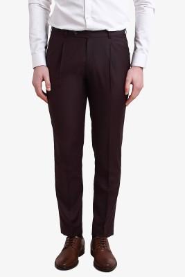 Alvin Kelly Slim Fit Men's Maroon Trousers