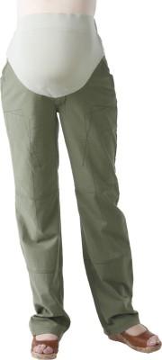 Morph Maternity Regular Fit Women's Green Trousers