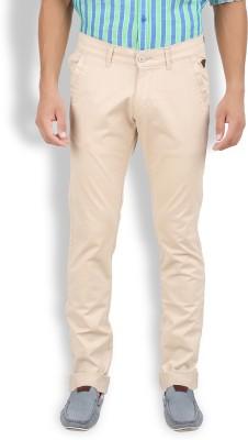 Volume Zero Slim Fit Men's Beige Trousers