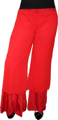 AS42 Regular Fit Women's Red Trousers