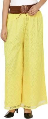 Lavish Slim Fit Women's Yellow Trousers