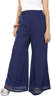 Twinkal Regular Fit, Slim Fit Women's Blue Trousers