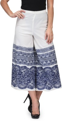 Just Wow Regular Fit Women's White, Blue Trousers