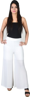 Asmara Regular Fit Women's White Trousers