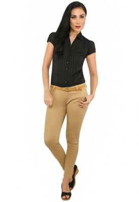 Recap Skinny Fit Women's Beige Trousers