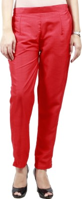 Haniya Slim Fit Women's Red Trousers