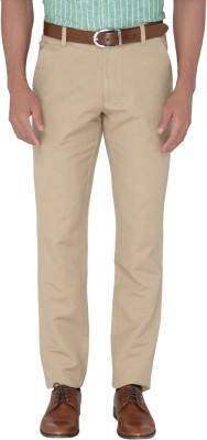 Jadeblue Slim Fit Men's Beige Trousers