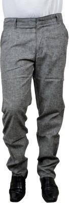 Risingfeathertofly Slim Fit Men's Grey Trousers