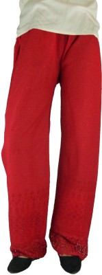 B VOS Regular Fit Women's Red Trousers