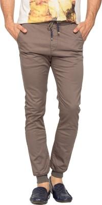 Spykar Slim Fit Men's Green Trousers