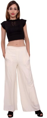 MSONS Regular Fit Women's Cream Trousers