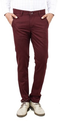 Uber Urban Slim Fit Men's Maroon Trousers