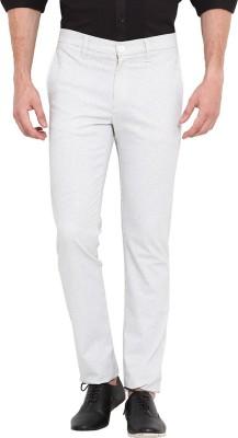 Exitplay Slim Fit Men's White Trousers