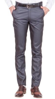 Shaurya-F Regular Fit Men's Grey Trousers