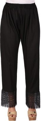 Ayesha Creations Regular Fit Women's Black Trousers