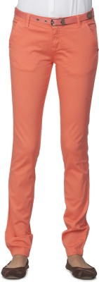 Ixia Slim Fit Women's Red Trousers