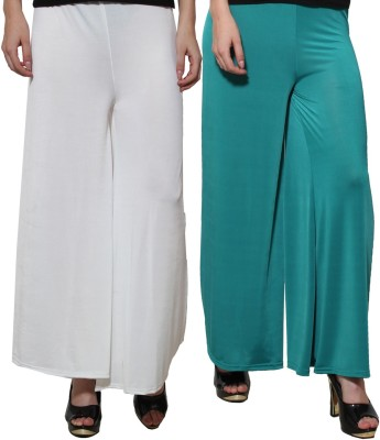 Both11 Regular Fit Womens Green, White Trousers