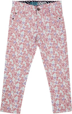 Addyvero Slim Fit Girl's Pink Trousers