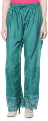 Stay Blessed Regular Fit Women's Green Trousers