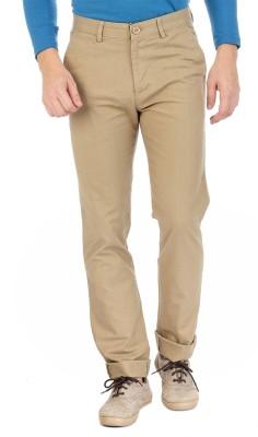 Sting Regular Fit Men's Linen Beige Trousers