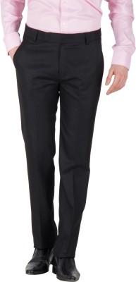 Mustin Regular Fit Men's Black Trousers