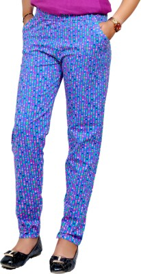 Lady in Red Regular Fit Women's Multicolor Trousers