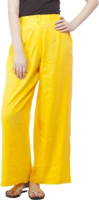Pistaa Regular Fit Women's Yellow Trousers