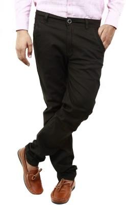 BlueTeazzers Skinny Fit Men's Black Trousers