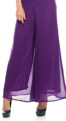 Awesome Regular Fit Women's Purple Trousers