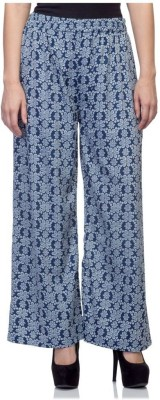 Tara Lifestyle Regular Fit Women's Blue Trousers
