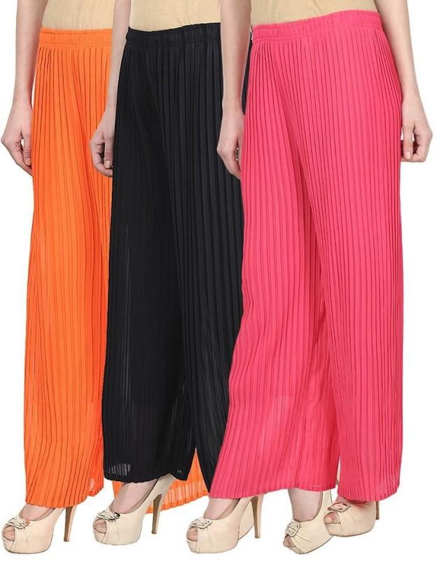 SYS Regular Fit Women's Orange, Black, Pink Trousers
