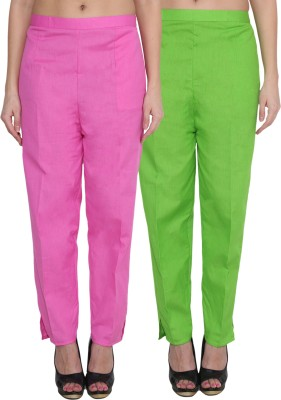 NumBrave Regular Fit Women's Pink, Green Trousers