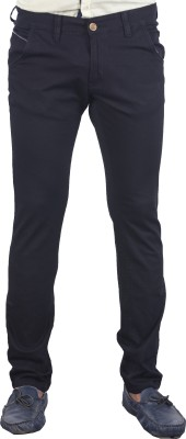bombay casual jeans Slim Fit Men's Black Trousers