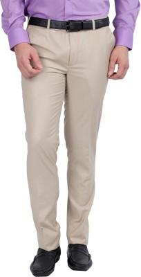 Jhampstead Slim Fit Men's Beige Trousers