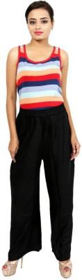 Hobz Regular Fit Women's Black Trousers