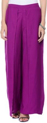 Lavennder Regular Fit Women's Purple Trousers