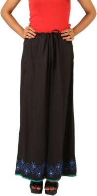 INDRICKA Regular Fit Women's Black Trousers