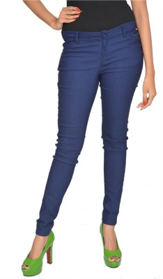 Fashion Club Slim Fit Women,s Blue Trousers