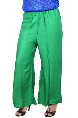 A33STORE Regular Fit Women's Green Trousers