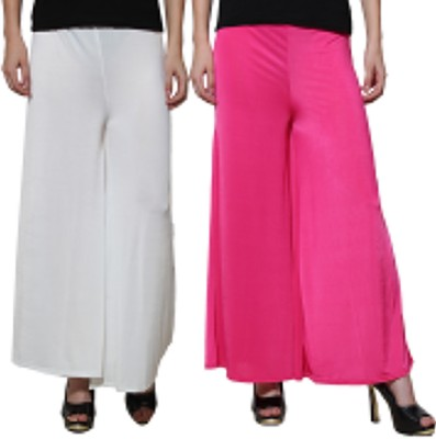 Both11 Regular Fit Womens Purple, White Trousers