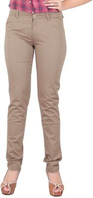 FCK-3 Slim Fit Women's Beige Trousers