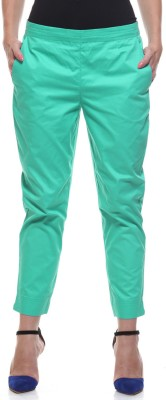 My Addiction Regular Fit Women's Green Trousers