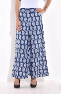 Desi Weaves Regular Fit Women's Blue Trousers