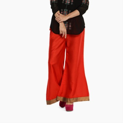 Navyou Regular Fit Women's Red, Gold Trousers